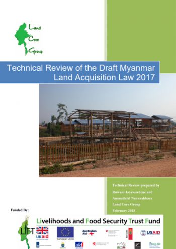 Technical Review of The Draft Myanmar Land Acquisition Law 2017