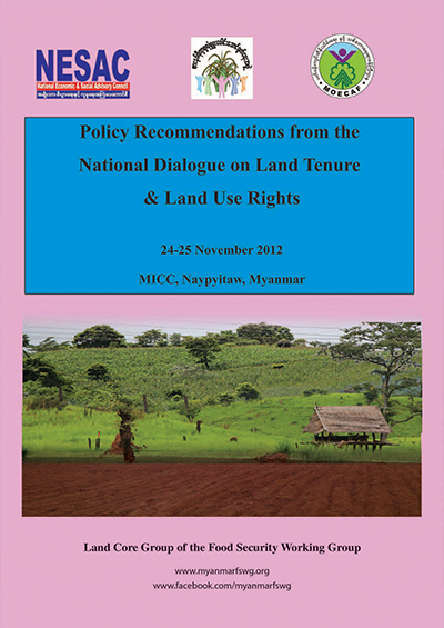 2012 Polciy recommendations from the national dialogue on land tenure and land use rights