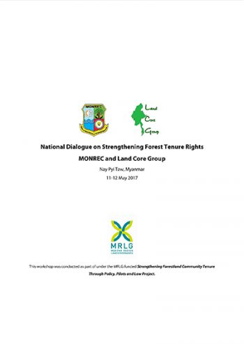 National Forest Tenure Dialogue Proceedings
