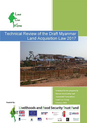 Technical Review of the Draft Myanmar Land Acquisition Act 2017
