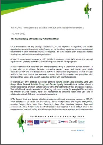 No COVID-19 response is possible without civil society involvement